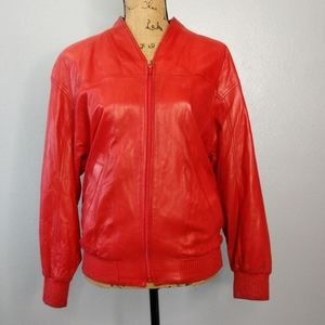 Vintage Bruno Magli Women's Size US 6 Red Leather